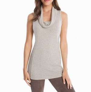 WHBM Cowl Neck Sleeveless Tunic